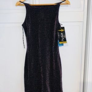 Vintage glittery purple tank dress - Small